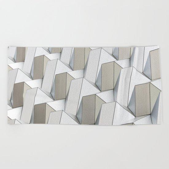 Pattern cubism Beach Towel