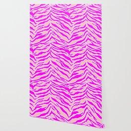 Tiger Print - Pink & Pink Wallpaper