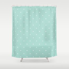 Turquoise Polka Shower Curtain