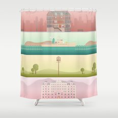 A Wes Anderson Collection Shower Curtain