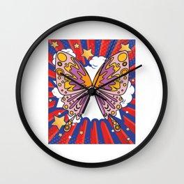 Beautiful Colorful Butterflies Wall Clock