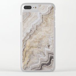 Hand Marbled Pattern Earth Colors Clear iPhone Case