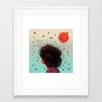 erykah badu Framed Art Prints featuring Erykah by Kaikoo