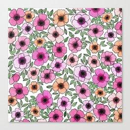 Poppy Pattern Canvas Print