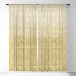 Yellow Ombre needlepoint Sheer Curtain