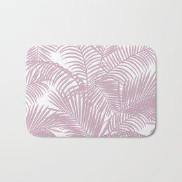 Modern tropical lavender palm tree floral Bath Mat
