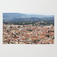 florence Area & Throw Rugs featuring Florence by Anya Kubilus