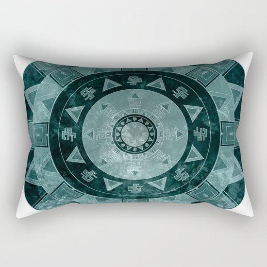 ethnic mandala with watercolors Rectangular Pillow