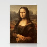 mona lisa Stationery Cards featuring Mona Lisa by Zen and Chic