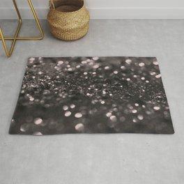 Blush Gray Black Lady Glitter #1 #shiny #decor #art #society6 Rug