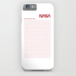 Red Graph Paper iPhone Case