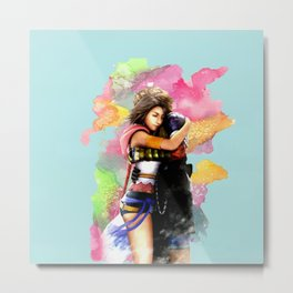 YUNA & TIDUS - FFX Metal Print