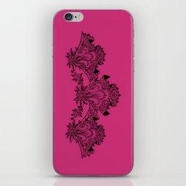 Vintage Lace Hankies Pink Yarrow iPhone Skin