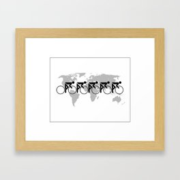The Bicycle Race 3 Framed Art Print