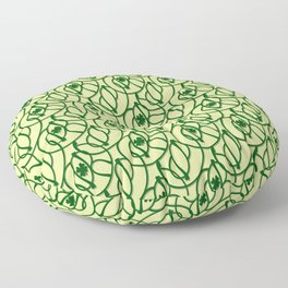St. Patrick's Day Clovers Floor Pillow
