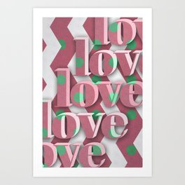 lovelovelove Art Print