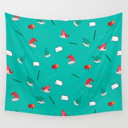 Teal Whale Shark and Shark Wall Tapestry