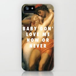 Frederic Leighton, The Fisherman and the Syren (c.1857) / Halsey, Now Or Never (2017) iPhone Case