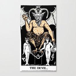 Modern Tarot 15 - The Devil Canvas Print