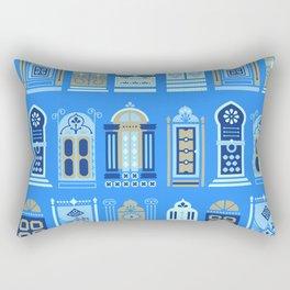 Moroccan Doors – Cornflower Blue Palette Rectangular Pillow
