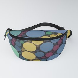 MARBLES - retro vintage colours indigo spearmint green dots abstract pattern Fanny Pack