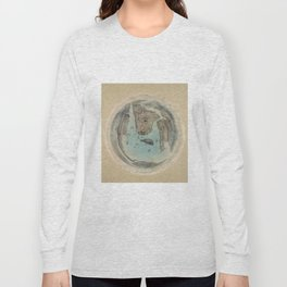 Vintage Circular Pictorial Map of NYC (1859) Long Sleeve T-shirt