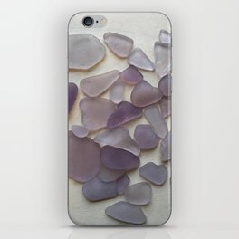 Genuine Purple Sea Glass Collection iPhone Skin