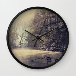 winter on the river Wall Clock