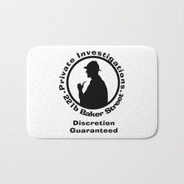 Sherlock Holmes Discretion Guaranteed Bath Mat