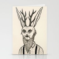 jackalope Stationery Cards featuring Jackalope by Jon MacNair