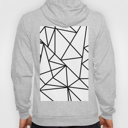 Black white modern abstract geometrical pattern Hoody