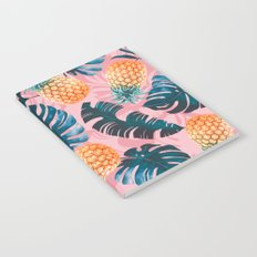 Pineapple and Leaf Pattern Notebook