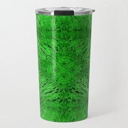 Grass Green Motion Mandala Travel Mug