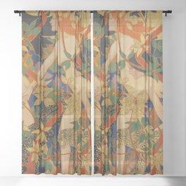 DIANA AND HER NYMPHS - ROBERT BURNS Sheer Curtain