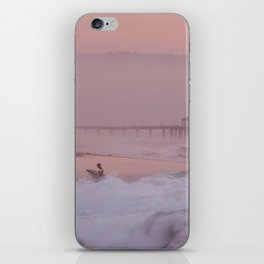 Manhattan Beach Surfer at Sunset iPhone Skin