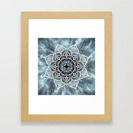Heart Of The Moon Mandala Framed Art Print