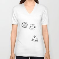 dungeons and dragons V-neck T-shirts featuring Dungeons and Dragons Dice by mrcarter