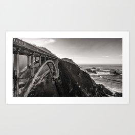 Bixby Bridge - California Art Print
