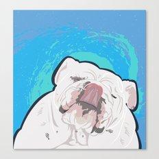 Bulldog Slurp Canvas Print