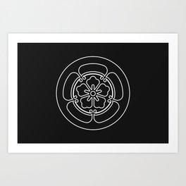 Oda Clan · White Mon · Outlined Art Print