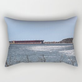 Ore Dock Across the Harbor Rectangular Pillow