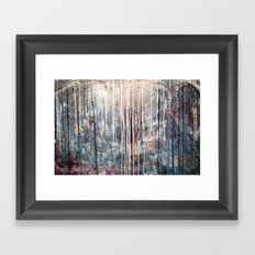 Blue Away Framed Art Print