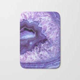 Purple Lavender Quartz Crystal Bath Mat
