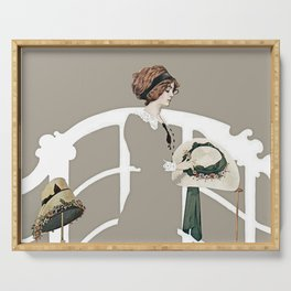 "C Coles Phillips ""At the Hat Shop"" Serving Tray"