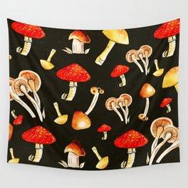 Brigt Mushrooms Wall Tapestry