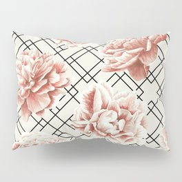 Simply Mod Diamond Roses in Cream and Black Pillow Sham