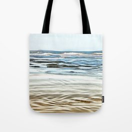 Abstract waves on the beach Tote Bag