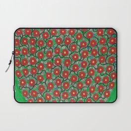 Red Flowers Laptop Sleeve