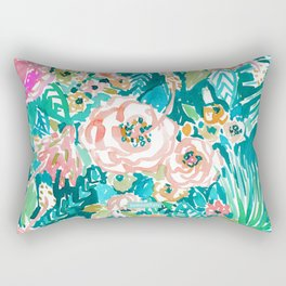 SUMMER IN MAUI Hibiscus Floral Rectangular Pillow