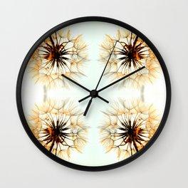 dandelions mosaic Wall Clock